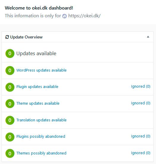 WordPress opdateringsservice, backup og support - OKEI Webbureau