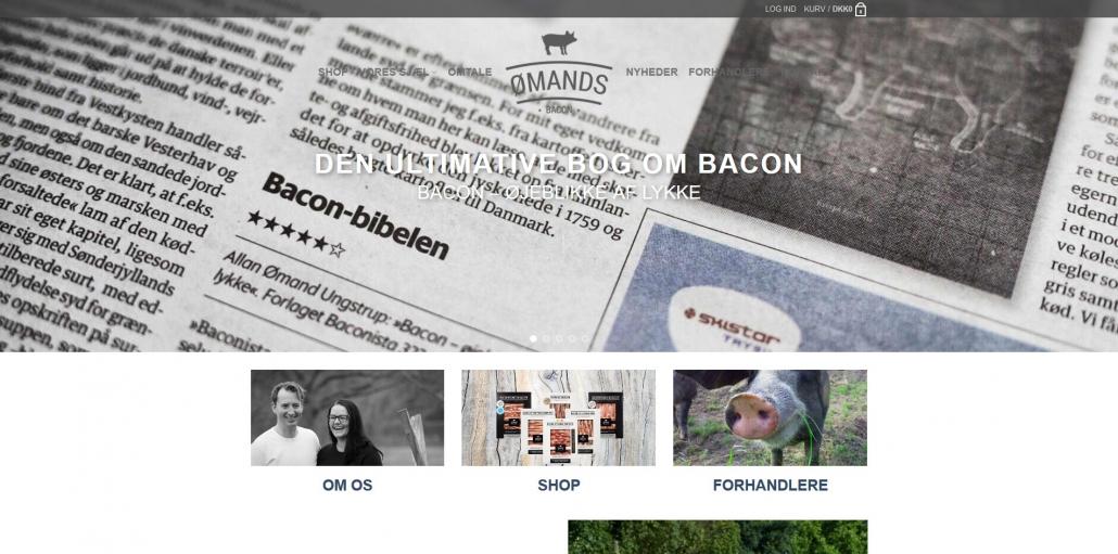Reference - ømands.dk - Bacon og baconista - OKEIwebbureau