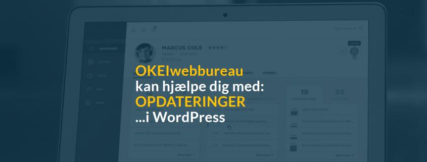WordPress hjemmeside og opdateringer - Webbureau - OKEIwebbureau