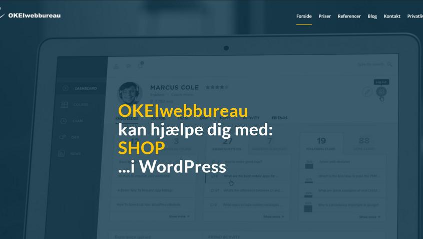 WordPress shop - Woocommerce - OKEIwebbureau