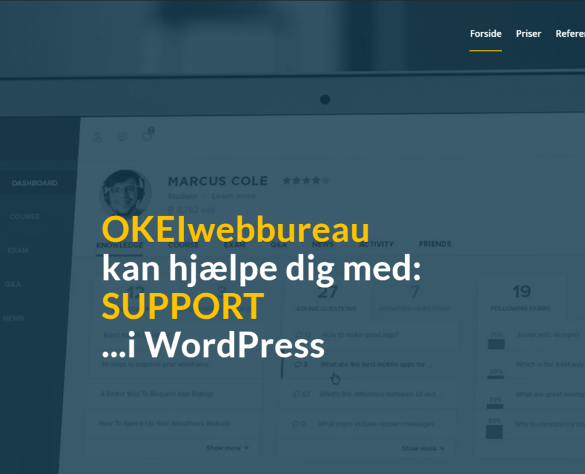 WordPress support - OKEIwebbureau