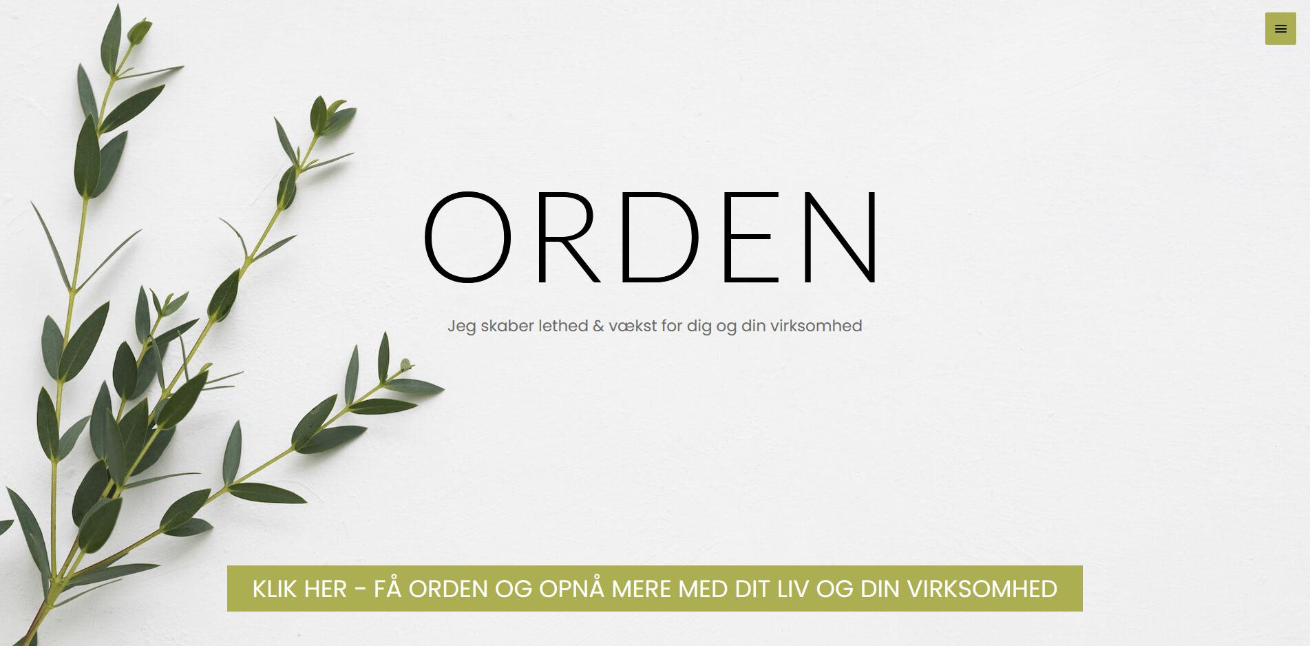 ORDEN.dk - WordPress hjemmeside - WordPress opdatering - SEO